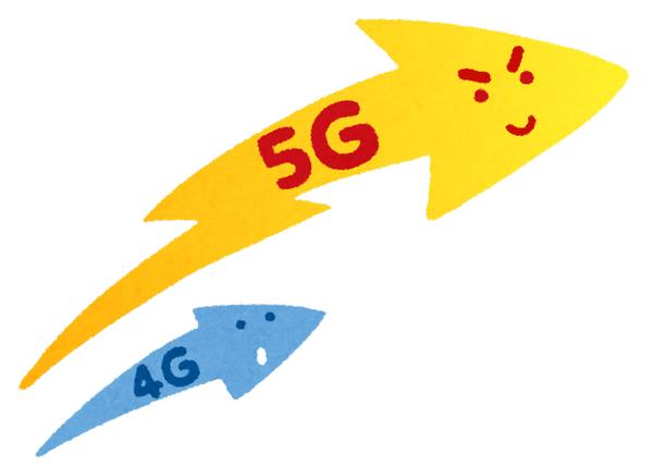 スマホ 5G インターネット いらすとや