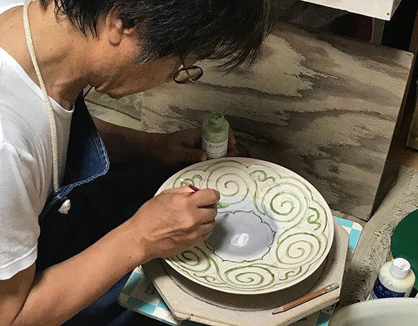 2018_5柿釉大皿2