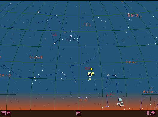 20180616 細い月と金星星図