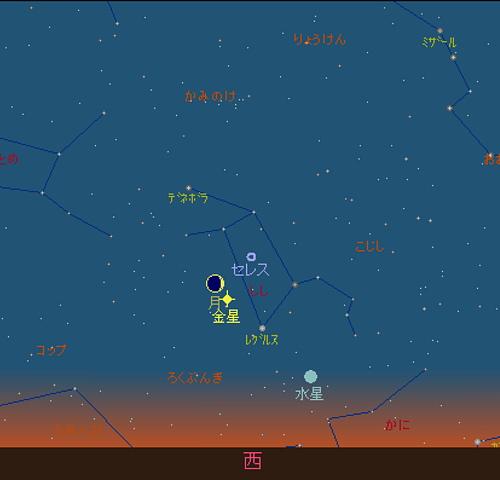 20180716 細い月と金星星図1