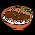 ブログ素材(ソースかつ丼)