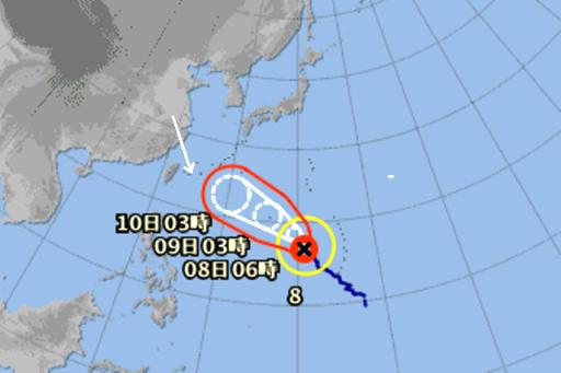 台風8号7月7日,06時