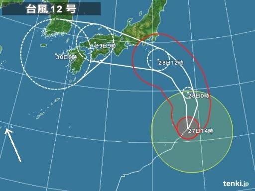 台風12号7-27日本気象協会tenkijp typhoon_1812_2018-07-27-14-00-00-