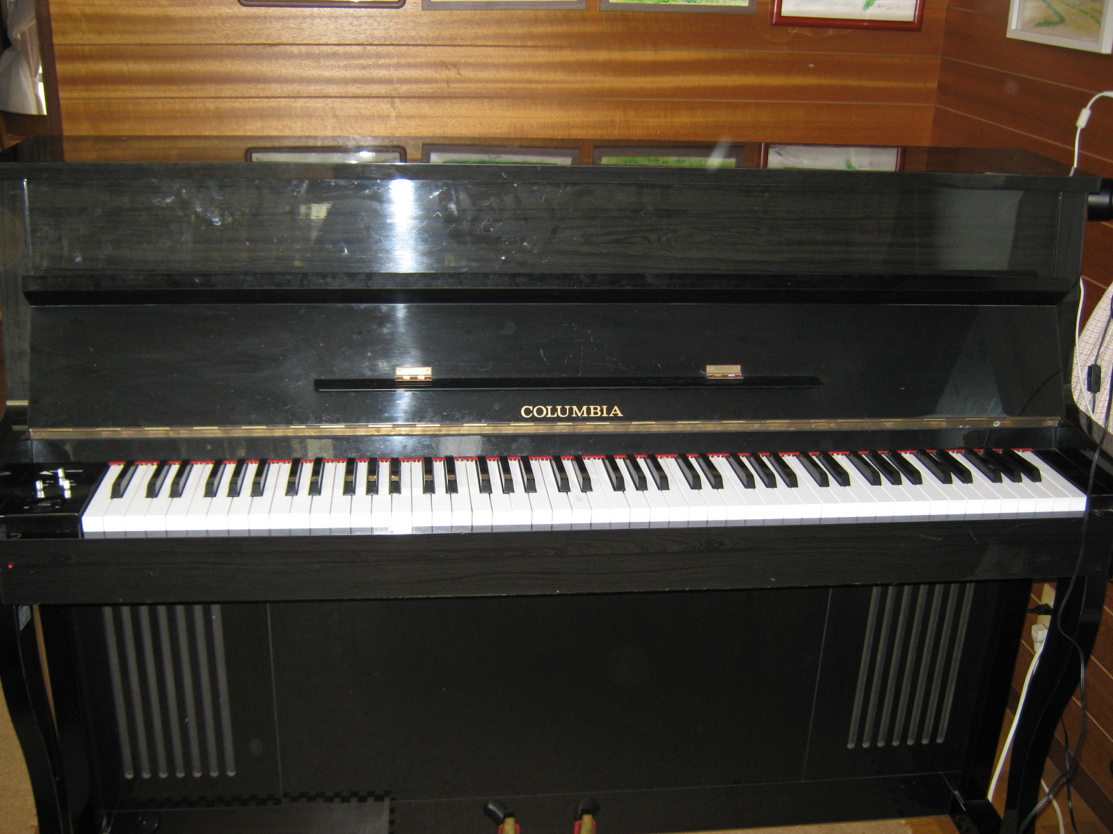 COLUMBIA電気ピアノ(抵抗不良)外観