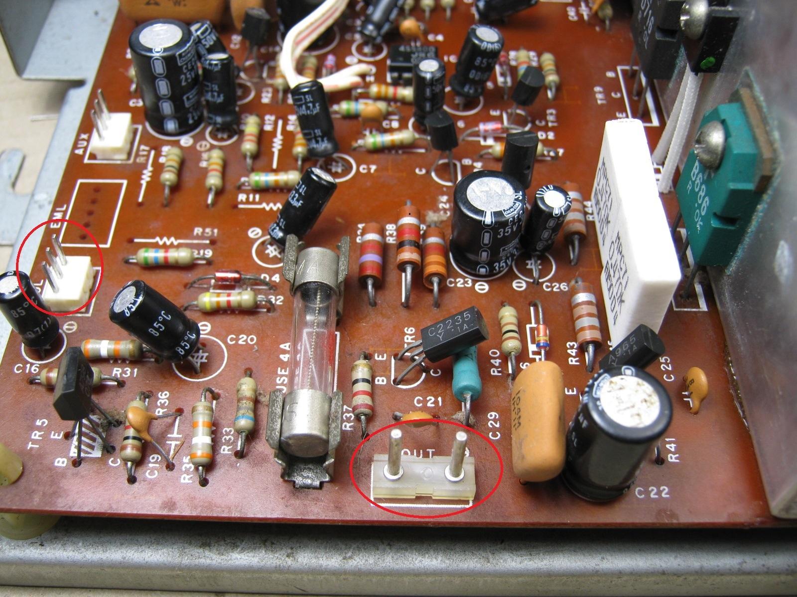 COLUMBIA電気ピアノ(抵抗不良)基板パワーアンプ印付き