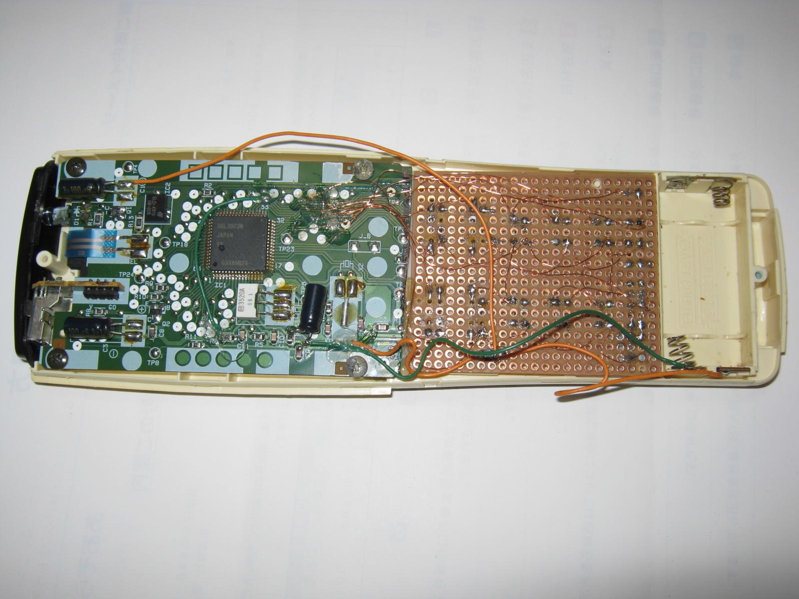 エアコンのリモコン基板換装後