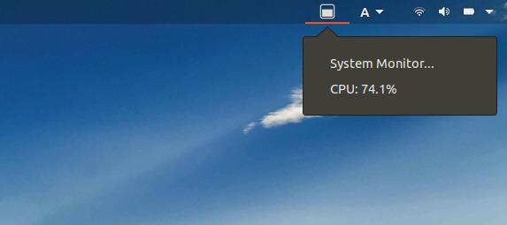 SysPeek-GS GNOME拡張機能 CPU使用率