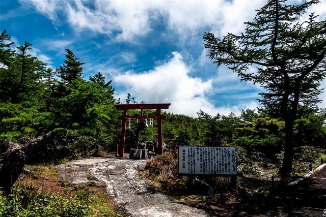 富士山五合目天狗岩