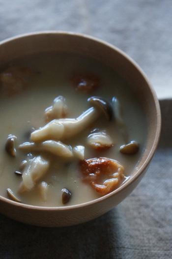 鳥団子スープ