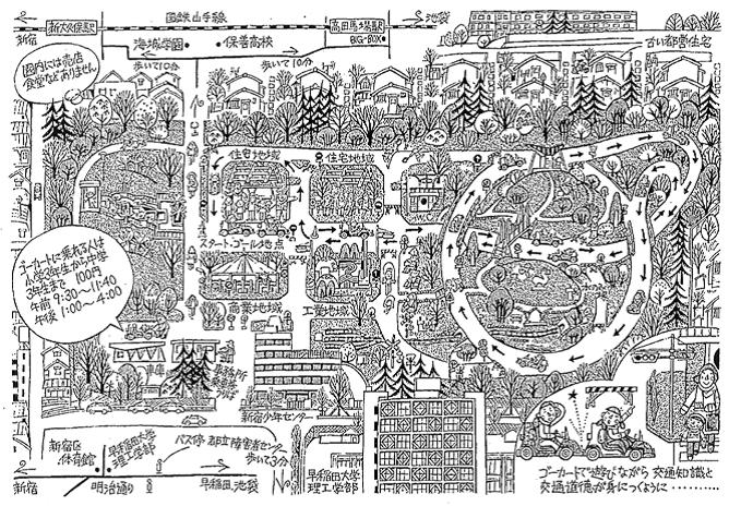 戸山交通公園マップ