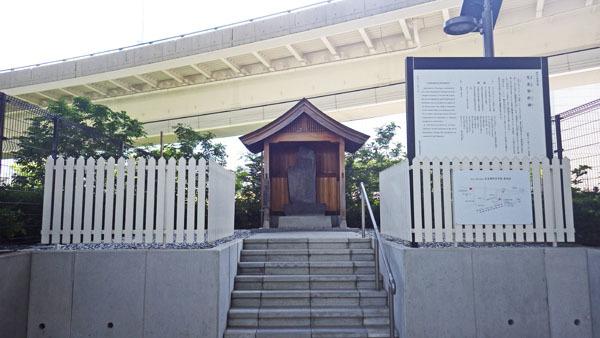 リチャードソンが殺された場所 記念碑