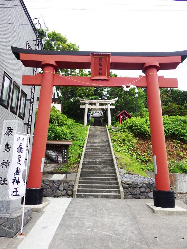 第一の赤い鳥居 礼文厳島神社