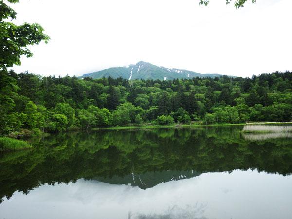 逆さ富士も見えた姫沼と利尻富士