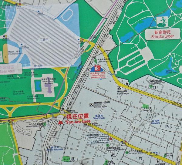 信濃町界隈地図