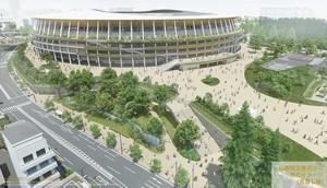 国立競技場と渋谷川