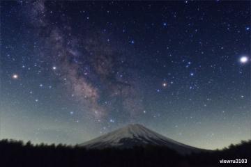 富士山と天の川_20180531