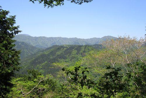 菰釣山の稜線