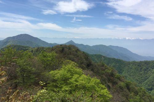 御坂山地と南アルプス