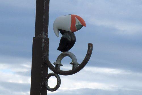エトピリカ模様の街灯