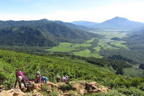 蛇紋岩の急登