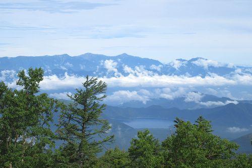 本栖湖と白峰三山