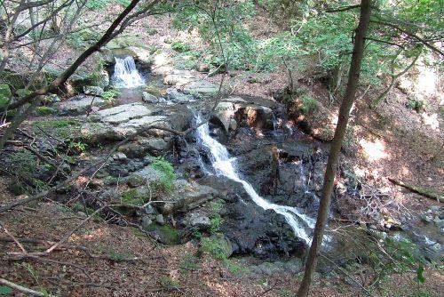 連続する滝