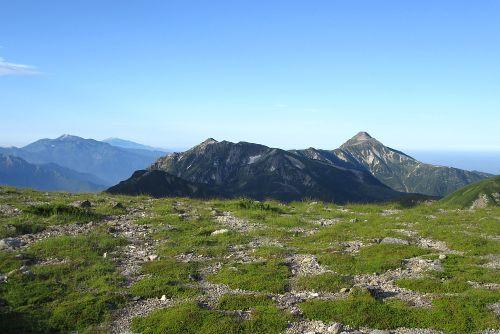 笠ヶ岳と乗鞍御嶽