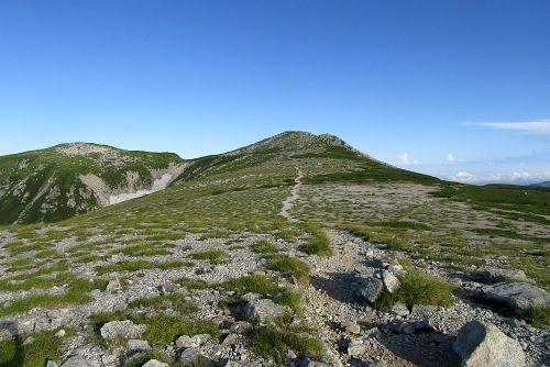 双六岳への道