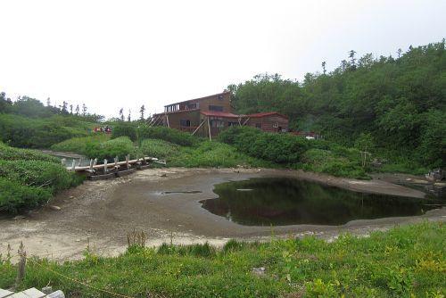 鏡平山荘到着