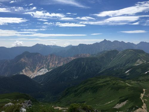 三俣蓮華岳からの大展望