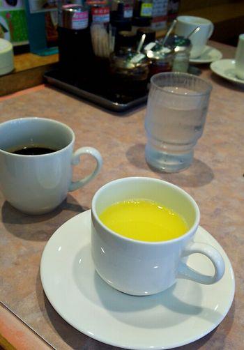 スープとコーヒー
