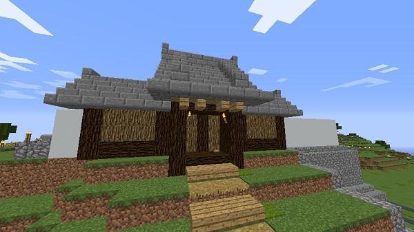 600.337、村に門作りました