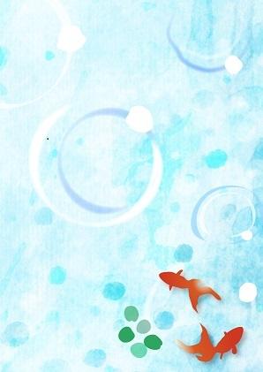 夏イラスト 金魚