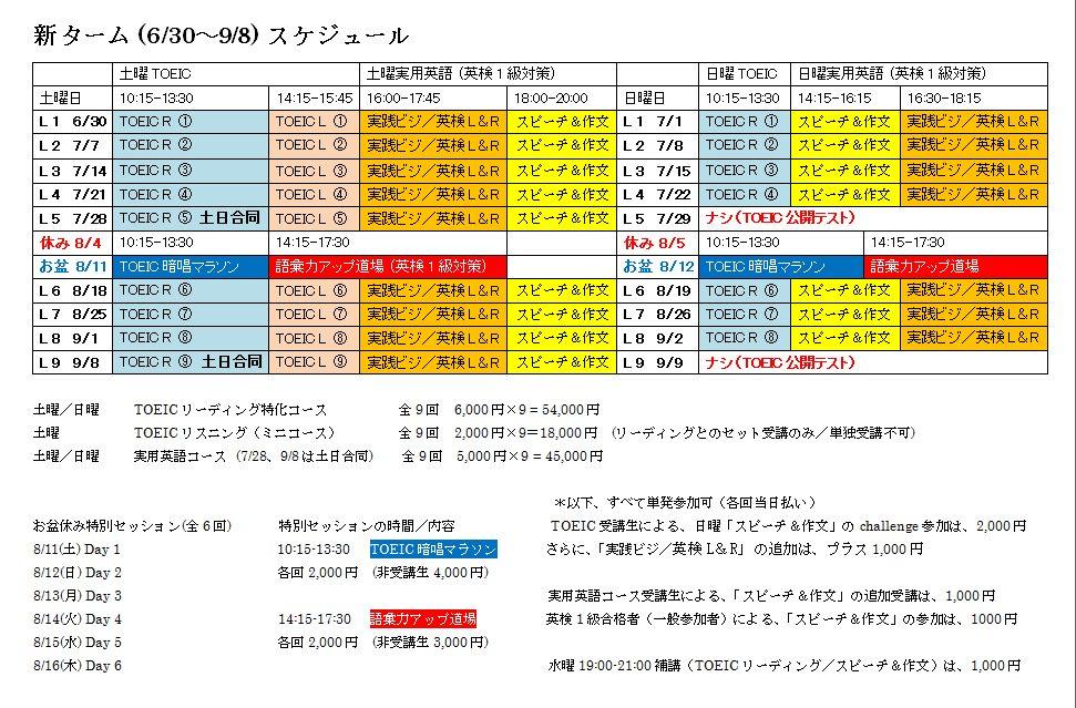 新スケジュール(0630-0908)
