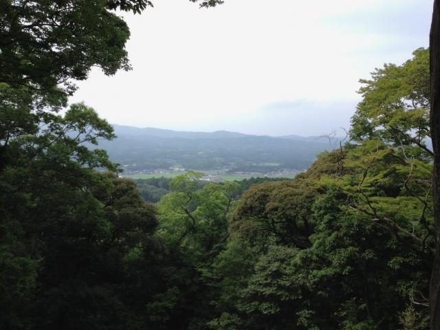 山頂からの風景。