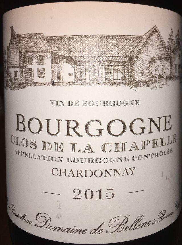 Bourgogne Clos de la Chapelle Chardonnay Domaine de Bellene 2015 part1