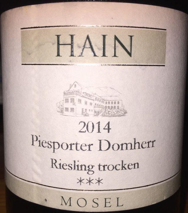 Hain Pisporter Domherr Riesling trocken 2014 part1