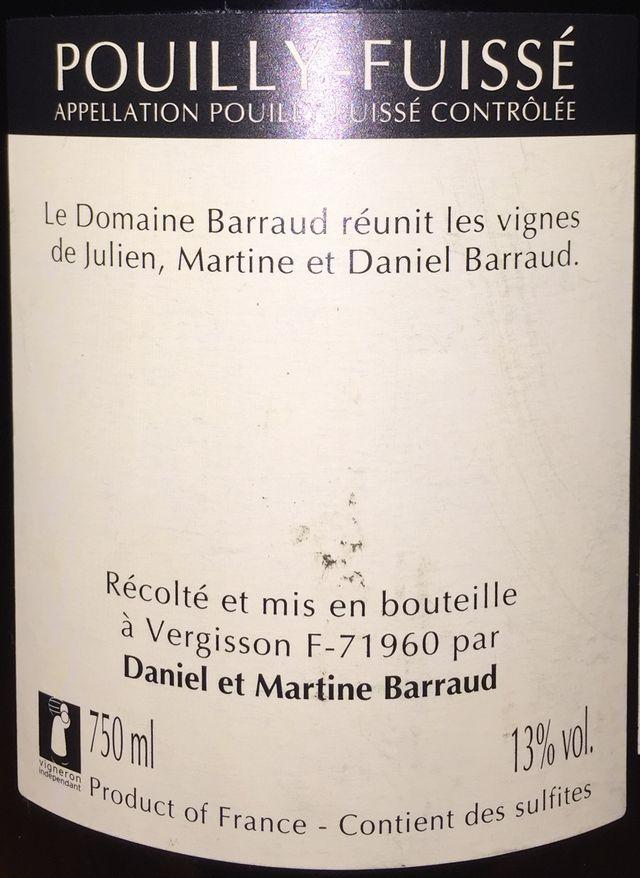 Pouilly Fuisse Julien Barraud 2007 part2