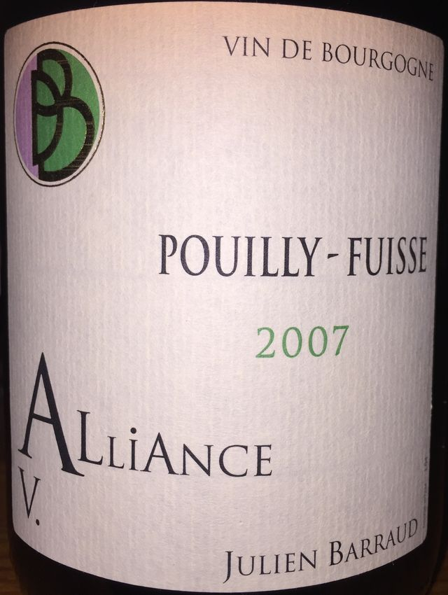 Pouilly Fuisse Alliance V Julien Barraud 2007 part1