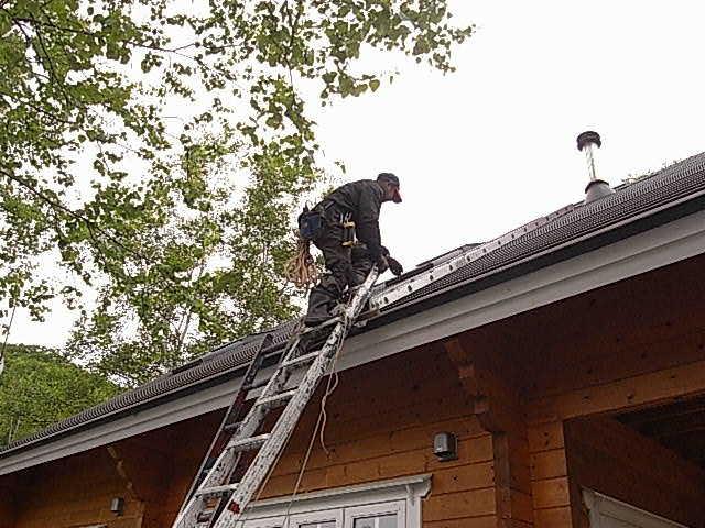 煙突掃除屋根