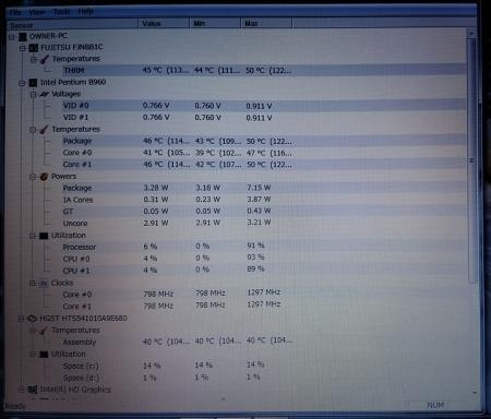 CPU温度測定