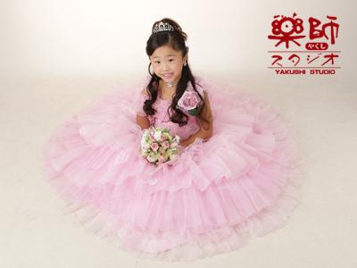 180708七五三 七歳 ドレス