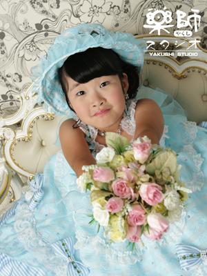 180728七五三 七歳 ドレス