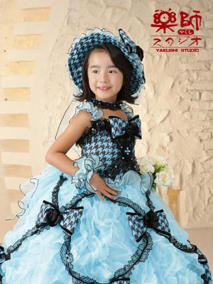180729七五三 七歳 ドレス