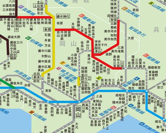 鉄道路線普及状況