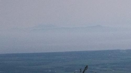 武佐岳から国後島