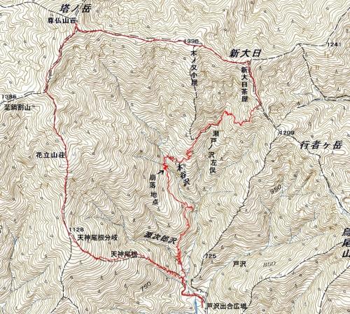 180408 塔ケ岳軌跡