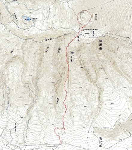 180526 岩手山軌跡