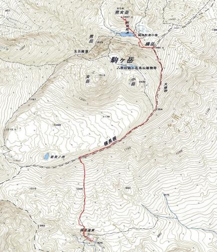 180527 秋田駒が岳軌跡