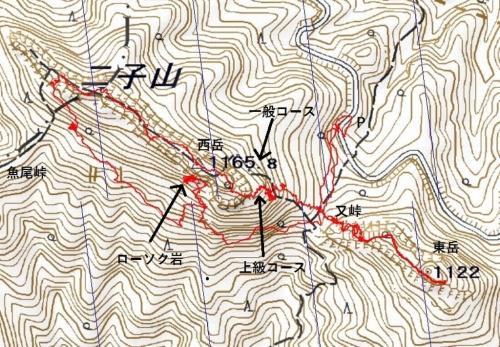 180613 二子山軌跡